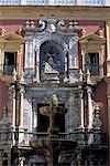 Espagne, Andalousie, Séville, Palacio Telmo, façade d'entrée baroque