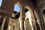 Espagne, Andalousie, Grenade, l'Alhambra, la Cour des lions