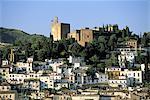 Espagne, Andalousie, Grenade, vue d'ensemble sur les remparts