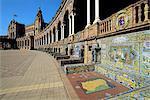 Spain, Andalusia, Seville, plaza de Espana