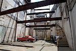 Stationnement de bâtiment abandonné, la Havane, Cuba