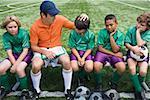 Förderung von jungen-Fußballmannschaft Trainer