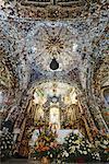 Decke der Kirche von San Francisco, Acatepec, Cholula, Mexiko