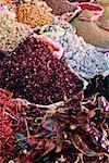 Baskets of Spices at Market, Ocotlan de Morelos, Mexico