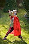 Portrait of Boy in Costume, Costa Mesa, Newport Beach, Orange County, California, USA