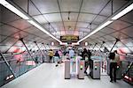 People in Subway, Bilbao, Spain