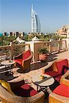 Madinat Jumeirah Complex, Burj al Arab Hotel in Background, Jumeirah, Dubai, United Arab Emirates
