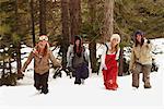 Women Walking through Snow