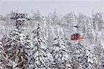 Ski Lift on Asahidake, Daisetsuzan National Park, Hokkaido, Japan