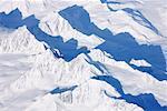 Berge und Schatten in Alaska