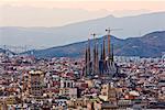 Sagrada Familia and Cityscape, Barcelona, Catalunya, Spain
