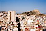 Castillo de Santa Barbara and Cityscape, Alicante, Valencia, Spain