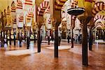 Moorish Arches and Columns, Mezquita, Cordoba, Andalucia, Spain