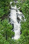 Wasserfälle im Wald, Charlevoix, Quebec, Kanada