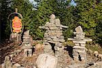Stein-Figuren, Wendake, Quebec, Kanada