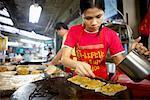Woman Cooking at Market, Bangkok, Thailand