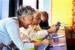 Seniors at Amusement Park, Santa Monica Pier, Santa Monica, California, USA