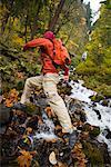 Homme de la Columbia River Gorge, Oregon, Etats-Unis