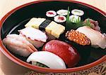 Sélection de sushi