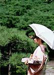 Femme portant Kimono