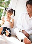Communication des vacances en famille