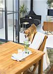 Table de jardin et chien