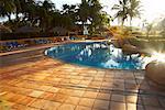 Piscine au lever du soleil, Fairmont Rancho Banderas, Bahia de Banderas, Nayarit, Mexique