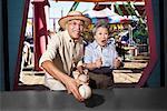 Couple at Amusement Park, Santa Monica Pier, Santa Monica, California, USA