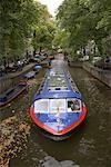 Bateau canal, Amsterdam, Pays-Bas