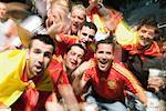 Excited European Football Fans, Euro 2008, Salzburg, Austria