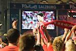 Big Screen at European Football Game, Euro 2008, Salzburg, Austria