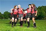 Frauen Fußball-Teamkollegen
