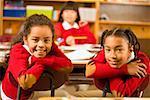 African girls in classroom