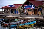 Boats by Scuba Stores, Hanga Roa, Easter Island, Chile