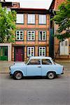 Car Parked on Street, Schwerin, Mecklenburg-Vorpommern, Germany