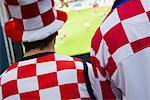 Kroatischer Fußball-Fans, Salzburg, Salzburger Land, Österreich