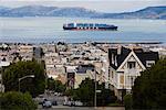 Porte-conteneurs, San Francisco, Californie, USA