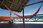 Hammock and Sitting Area on Beach, Tulum, Mexico