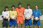 Porträt der Fußballmannschaft