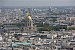 Les Invalides and Overview of Paris, Paris, France