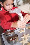 Zuckerglasur Kekse mit Puderzucker Tasche Mädchen