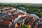 Vue de Lubeck de Petrie-église tour, Schleswig-Holstein, Allemagne