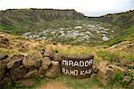 Rano Kau Crater, Easter Island, Chile