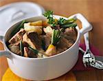Kalbfleisch und Gemüse Eintopf