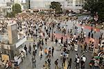 People on pedestrian crossing in tokyo