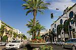 Vue sur Rodeo Drive, Beverly Hills, Californie, Etats-Unis