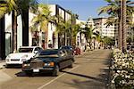 Vue de Rodeo Drive et passage Limousine, Beverly Hills, Californie, Etats-Unis
