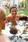 Women Sitting in a Hot Tub, Encinitas, San Diego County, California, USA