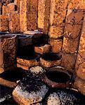 Géant '; s Causeway, colonnes de basalte, Co. Antrim, Irlande