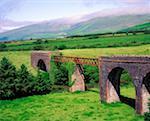 Pont ferroviaire à Annascaul, Dingle péninsule, Co Kerry, Irlande